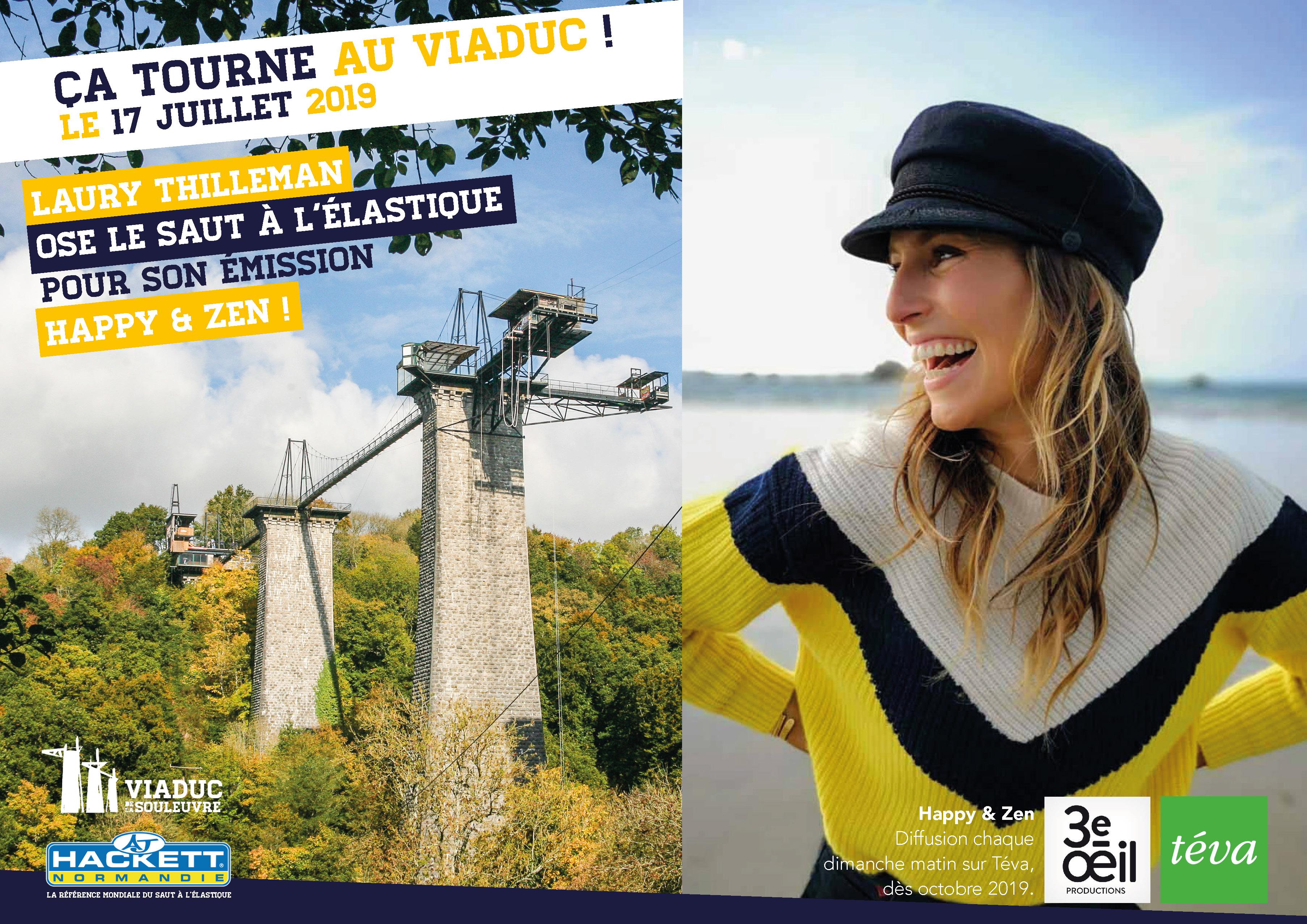 Laury Thilleman au Viaduc de la Souleuvre